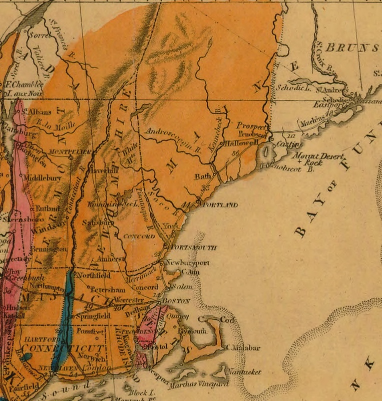 Detail from Map of the United States of America.